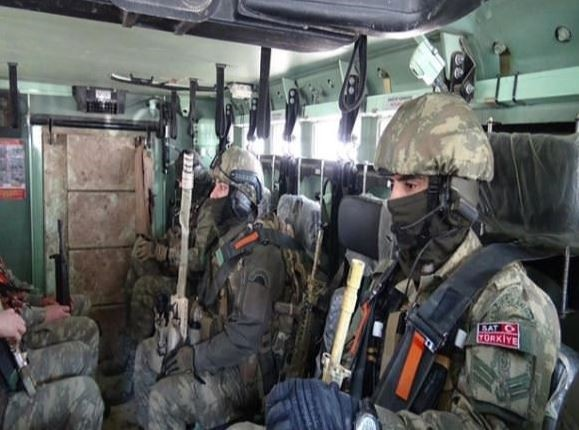 Commandos from the special operations unit of the Turkish Navy heading for anti-terror operations are seen in this picture released by the naval forces command. (File Photo)