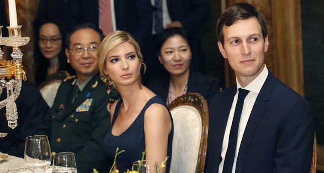 In this Thursday, April 6, 2017, file photo, Ivanka Trump is seated with her husband Jared Kushner,. (AP Photo)