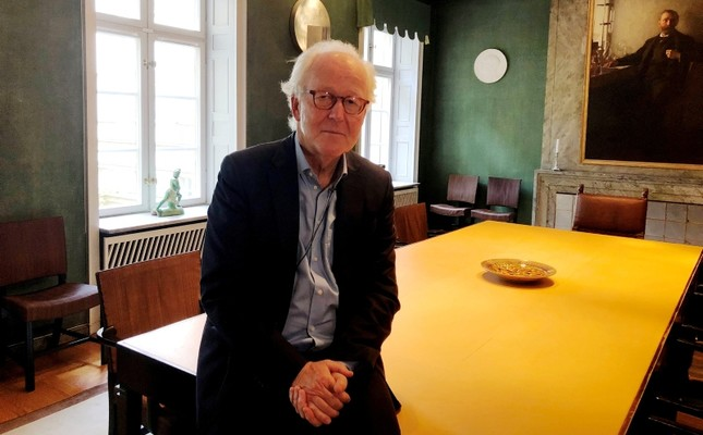 Nobel Foundation CEO Lars Heikensten pose for a picture at the foundation's headquarters in Stockholm, Sweden, September 28, 2018. (Reuters Photo)
