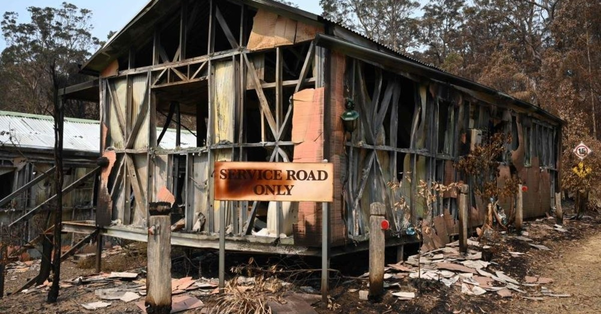 Accommodation blocks at the Gold Rush Colony, Mogo, Jan. 11, 2020. (AFP Photo)