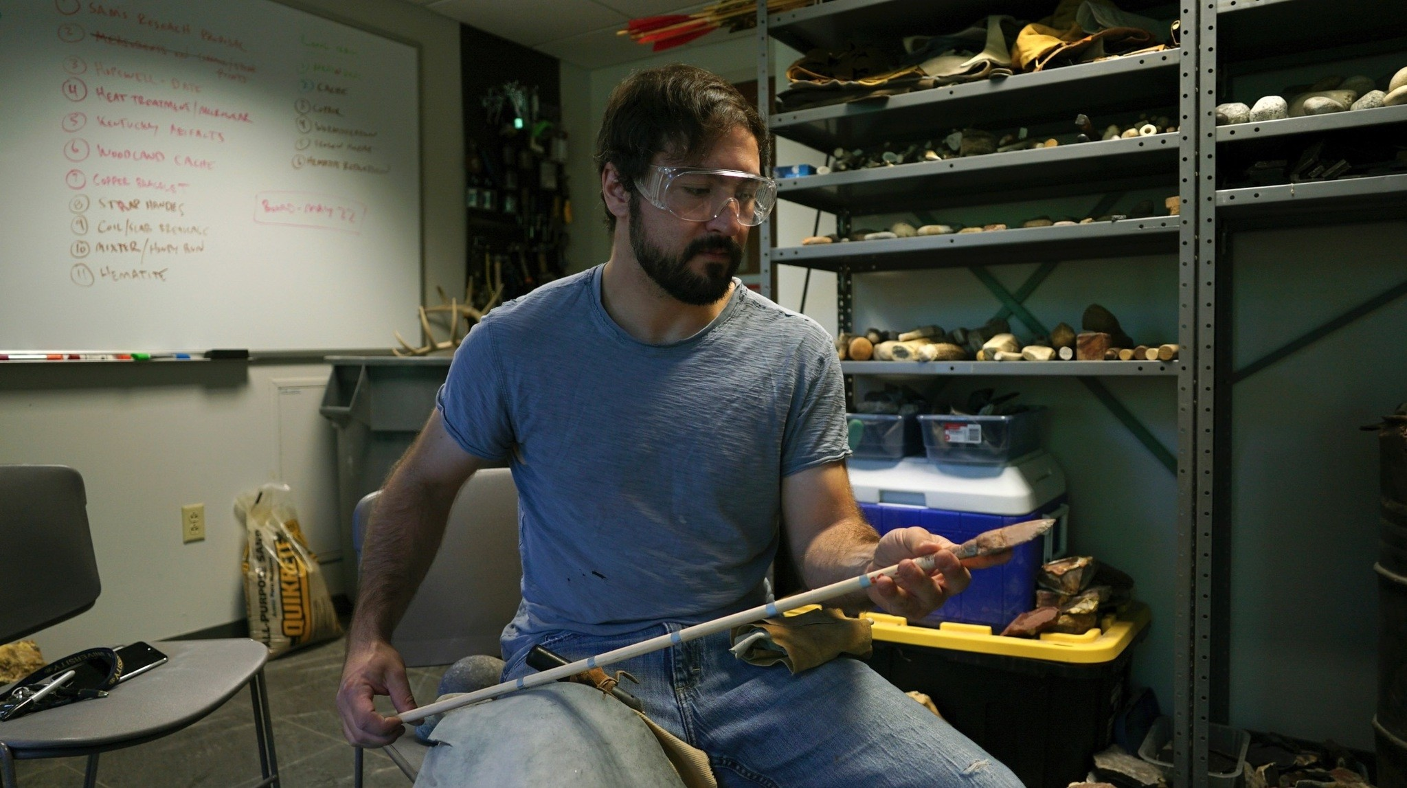Metin Eren, an archaeologist at Kent State University, runs  a newly opened laboratory that makes replicas of ancient arrows, knives and pottery to be shot, crushed and smashed.