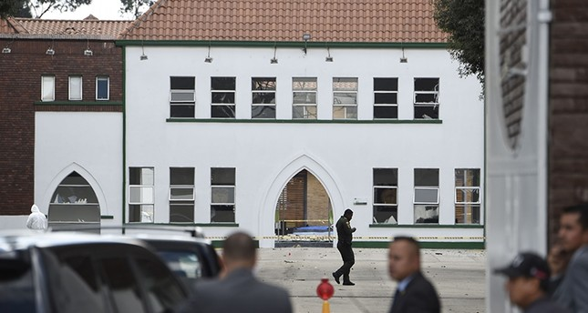 View of the scene of an apparent car bomb attack on a police cadet training school in Bogota, on Jan. 17, 2019. (AFP Photo)