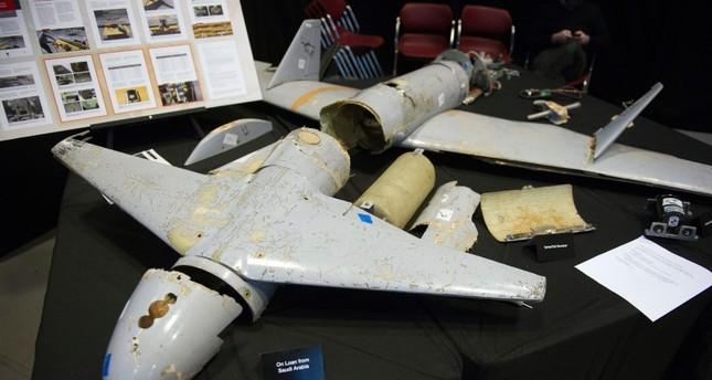 طائرة الدرون التي استهدفت خطا لنقل النفط في السعودية (AP)