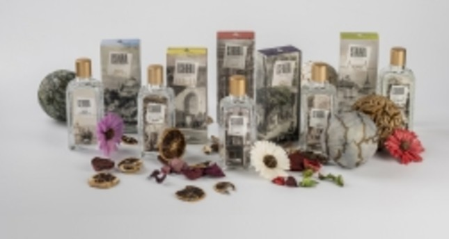 Istanbul's signature flowers, plants in cologne bottles
