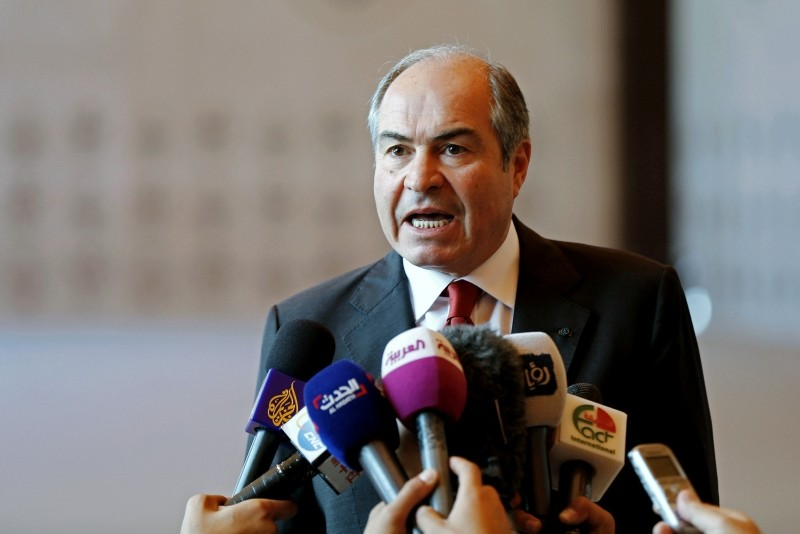 ordan's Prime Minister Hani Mulki speaks to the media after the swearing-in ceremony for the new cabinet at the Royal Palace in Amman, Jordan (Reuters Photo)