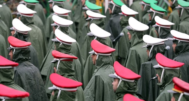 ranian soldiers take part take part in the ceremony marking the 40th anniversary of the 1979 Islamic Revolution, at the Azadi (Freedom) square in Tehran (EPA Photo)