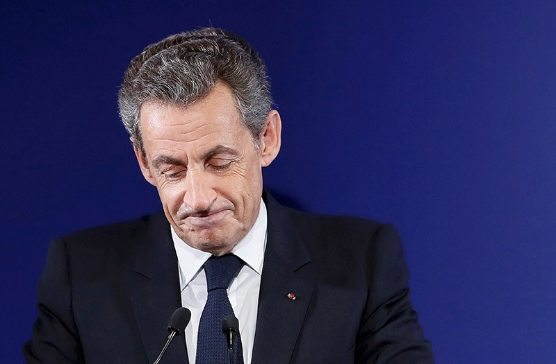 Nicolas Sarkozy, former French president, at his headquarters in Paris , France, November 20, 2016. (Reuters Photo)