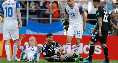 Iceland holds Argentina to draw after missed penalty