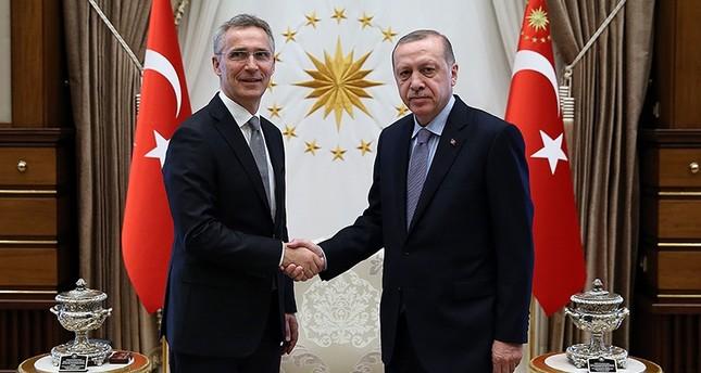 أردوغان يبحث مع أمين عام الناتو الضربة الغربية في سوريا