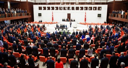 Turkey's new 600-seat parliament sworn in
