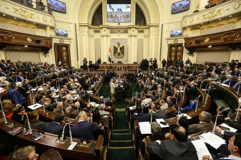 Egypt's Parliament meets to deliberate over constitutional amendments that could allow President Abdel-Fattah el-Sissi to stay in office till 2034, in Cairo Egypt, Wednesday, Feb 13, 2019. (AP Photo)