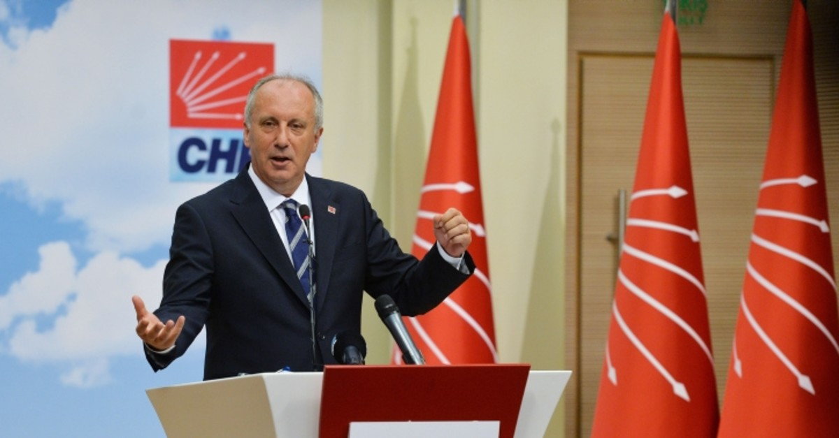 CHP's presidential candidate Muharrem Ince holds a press conference at the party's headquarters in Ankara on June 25, 2018, a day after the elections. (Photo: Sabah / Ali Ekeyu0131lmaz)