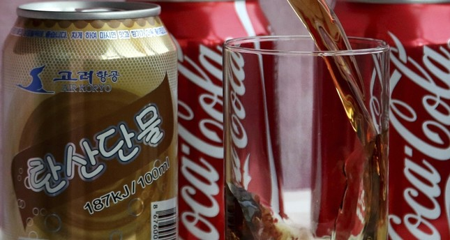 A can of Air Koryo cola, produced by Air Koryo, the country's flagship airline which recently introduced its own brand of cola on flights to and from Beijing, is seen in Pyongyang, North Korea.
