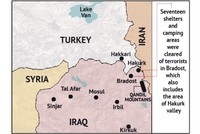 Turkish army pushes 35 km into Mt Qandil