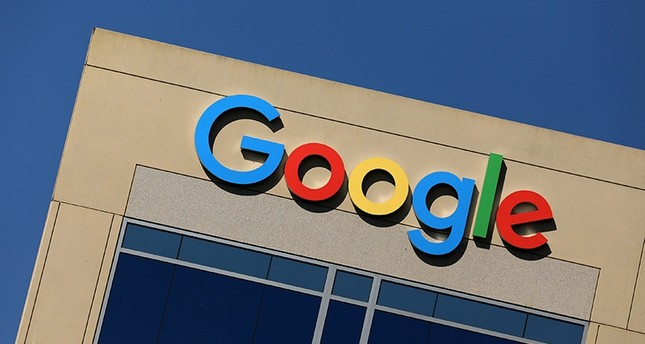 The Google logo is pictured atop an office building in Irvine, California, U.S. August 7, 2017. (Reuters Photo)