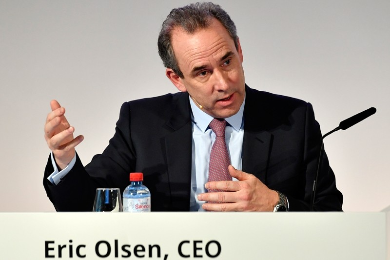The former CEO of Swiss-French cement company Eric Olsen (AP File Photo)
