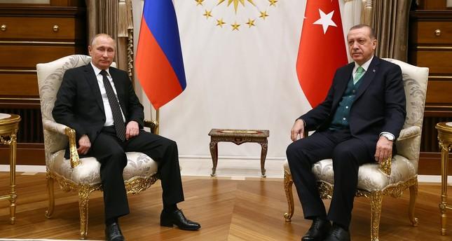 Erdoğan, Putin say ending humanitarian tragedy in Ghouta 'essential', discuss aid
