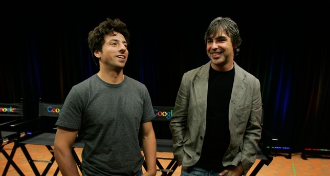 In this Sept. 2, 2008, file photo Google co-founders Sergey Brin, left, and Larry Page talk about the new Google Browser, Chrome, during a news conference at Google Inc. headquarters in Mountain View, Calif. (AP Photo)