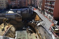 Huge sinkhole on Rome street swallows half-dozen cars, no casualties reported