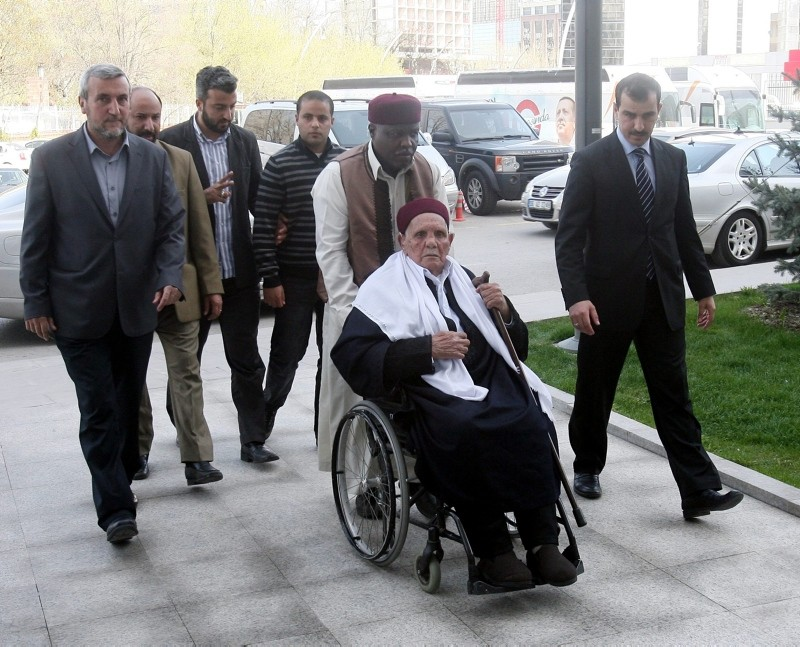This file photo shows Mohammed Mukhtar arriving in the AK Party headquarters in Ankara prior to a meeting with then Prime Minister Recep Tayyip Erdou011fan on April 17, 2012. (Sabah / Mehmet Acar)