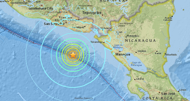 7.0 quake shakes El Salvador, Nicaragua as Hurricane Otto ... on map of south america, el salvador south america, best places to visit in central america, is mexico part of central america, map of us and central america, map of united states and puerto rico, el salvador in north america, national geography central america, map of central america states, which waterways border central america, drought in central america, map of gangs in san salvador, map of costa rica birding, map of caribbean central america, map of usa and puerto rico, map with capitals of the caribbean islands, map from el salvador, blank outline map of central america, coastal south america, map of mexico,