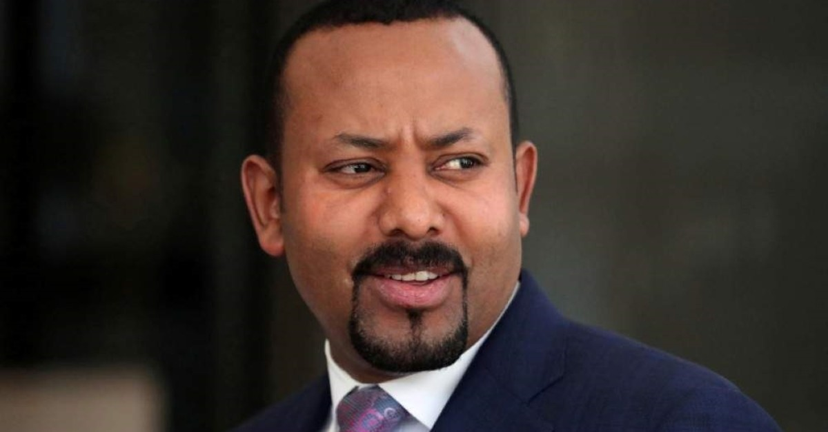 Ethiopia's Prime Minister Abiy Ahmed waits for the arrival of European Commission President Ursula von der Leyen before their meeting in Addis Ababa, Ethiopia, Dec. 7, 2019. (Reuters Photo)