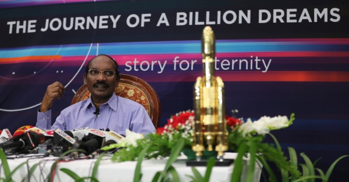 Indian Space Research Organization (ISRO) Chairman Kailasavadivoo Sivan speaks during a press conference at their headquarters in Bangalore, India, Tuesday, Aug. 20, 2019. (AP Photo)