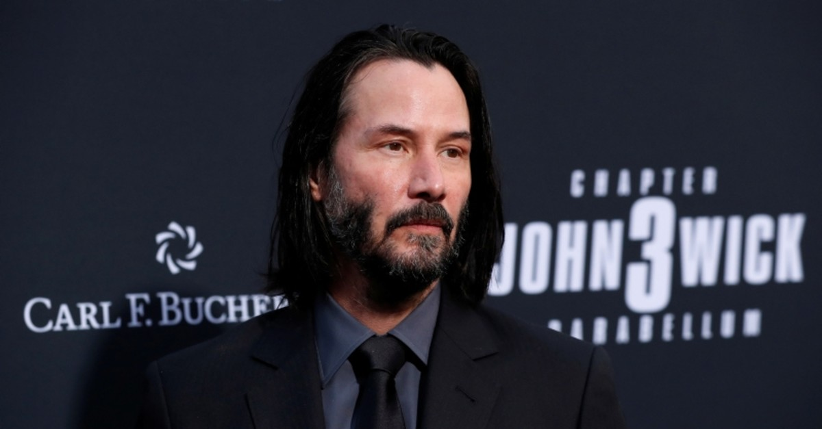Cast member Keanu Reeves arrives for a screening of the movie ,John Wick: Chapter 3 - Parabellum, in Los Angeles, California, US. (Reuters Photo)