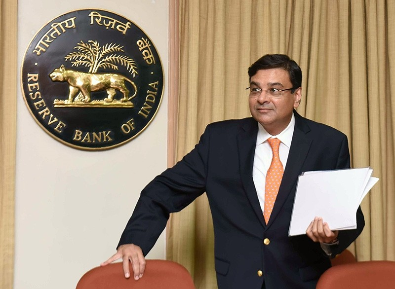 In this file photo taken on June 6, 2018, Reserve Bank of India (RBI) Governor Urjit Patel arrives for a news conference at the bank's head office in Mumbai. (AFP Photo)