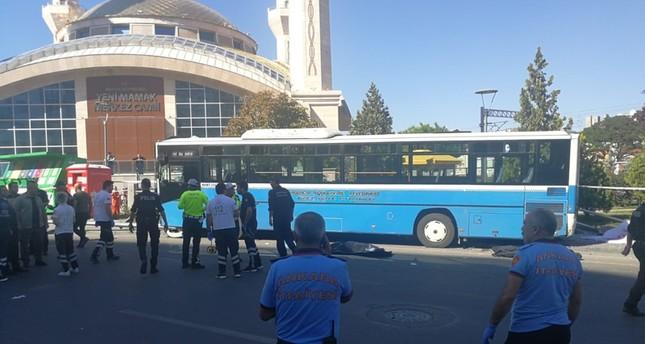 3 погибли при наезде автобуса на остановку в Анкаре