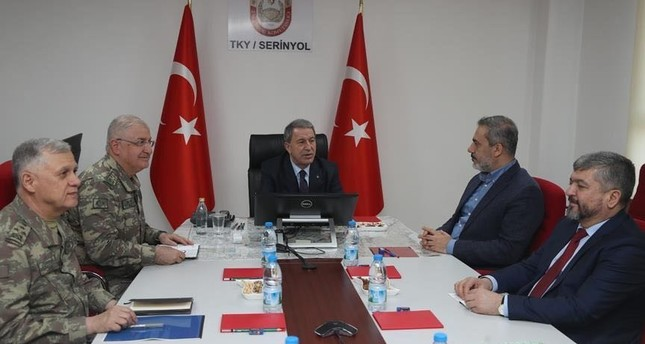 Turkish army, intelligence chiefs meet in southern border province of Hatay