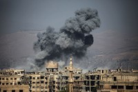 Assad regime jets strike near Damascus despite self-declared ceasefire
