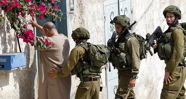 Israeli soldiers during an operation in the West Bank village of Madama near the West Bank city of Nablus, Palestine, Aug. 24, 2016. (EPA Photo)