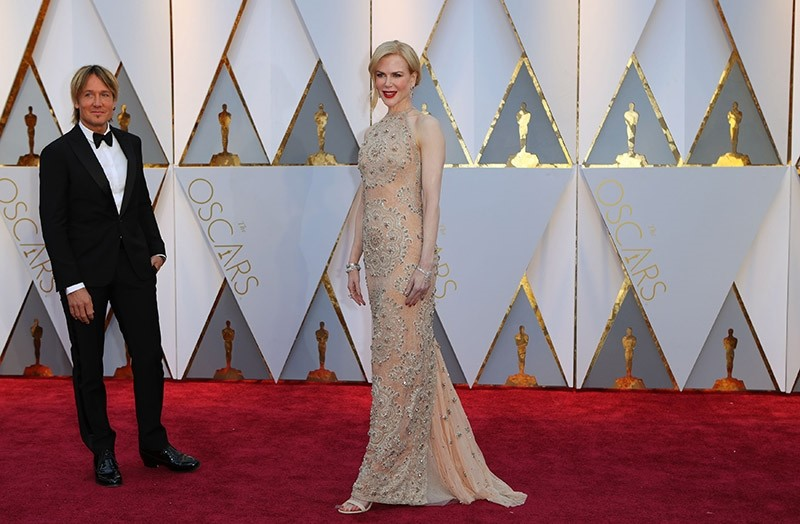 Nicole Kidman and her husband Keith Urban at the 89th Academy Awards - Oscars Red Carpet Arrivals - Hollywood, California, U.S., Feb. 02, 2017. (Reuters Photo)