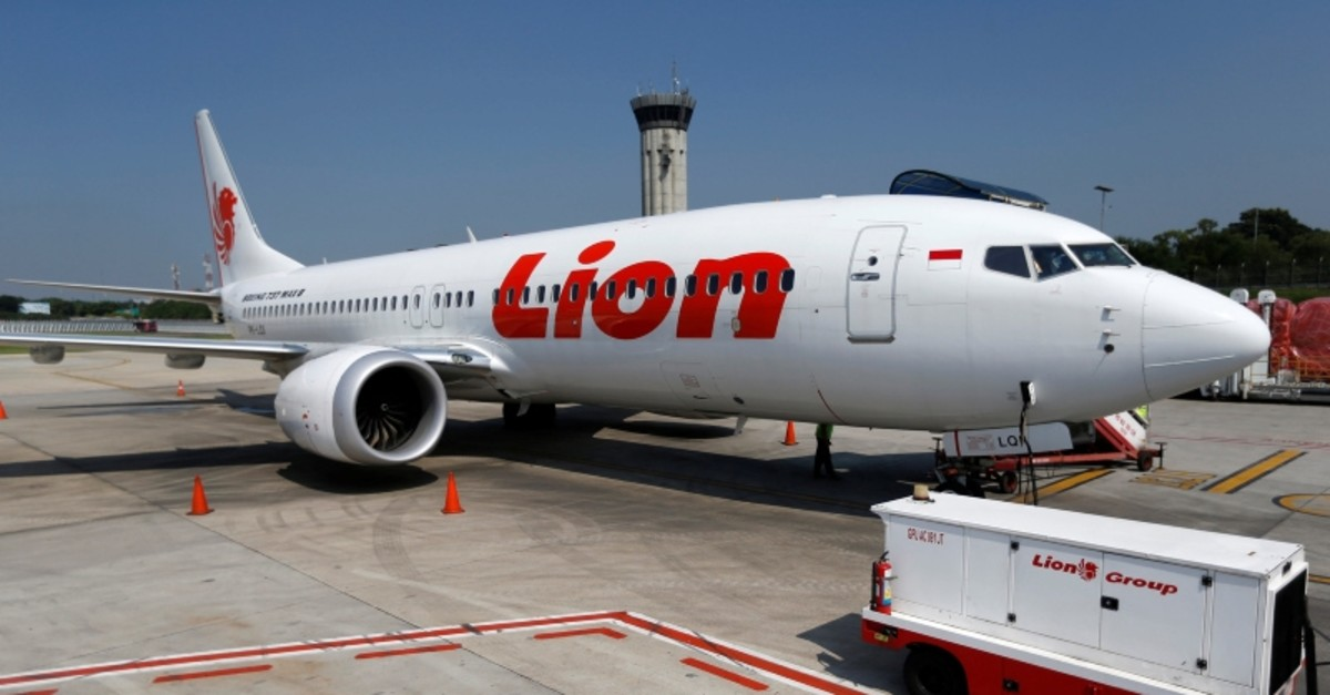 Lion Air's Boeing 737 Max 8 airplane is parked on the tarmac of Soekarno Hatta International airport near Jakarta, Indonesia, March 15, 2019. (AFP Photo)