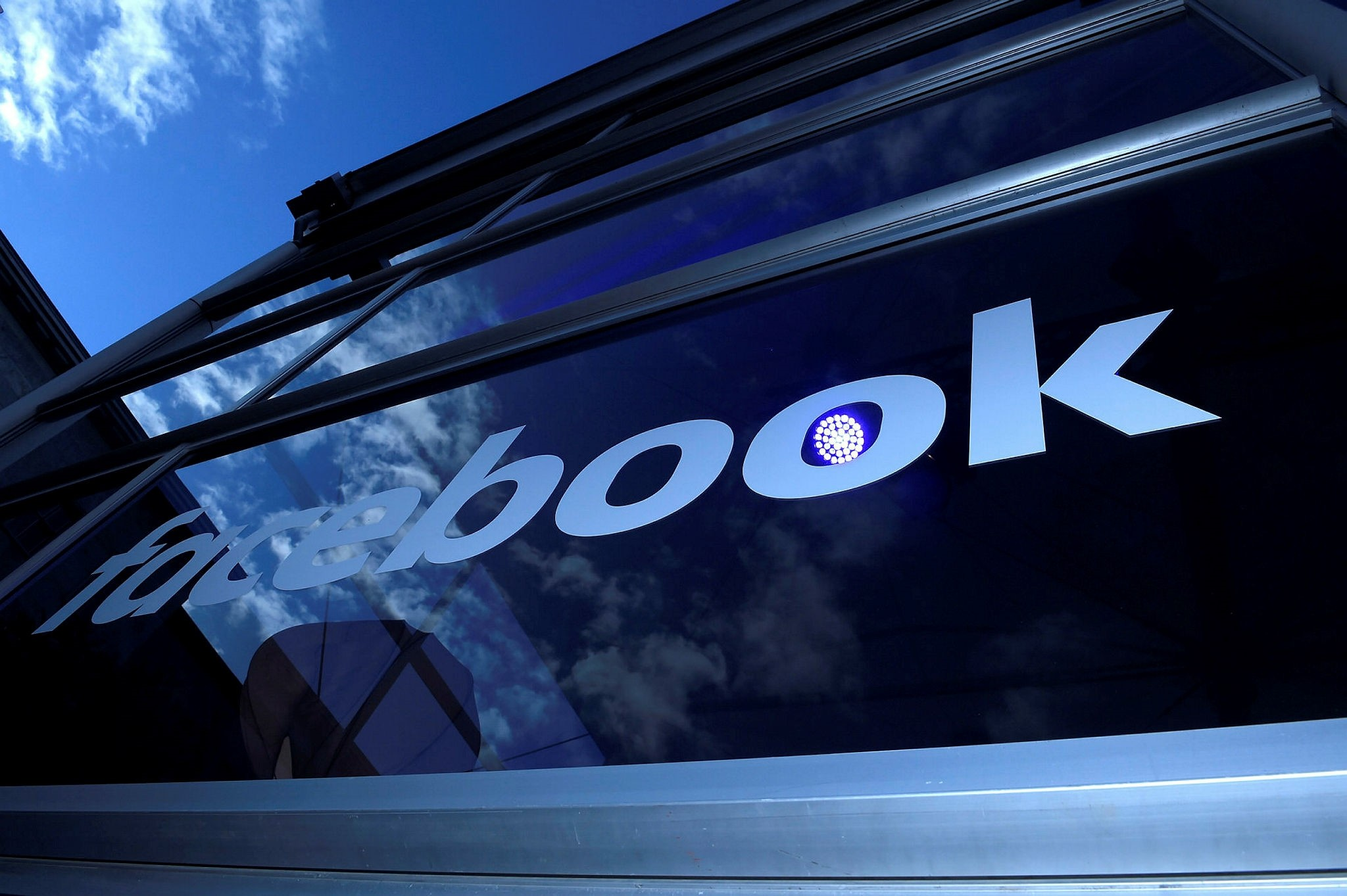 This file photo taken on February 24, 2016 shows the ,Facebook, logo pictured on the sidelines of a press preview of the so-called ,Facebook Innovation Hub, in Berlin on February 24, 2016. (AFP Photo)