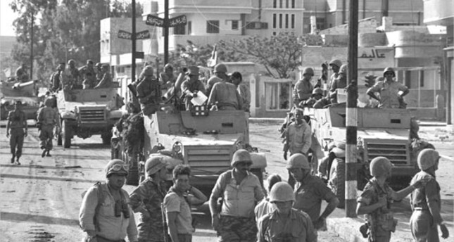 Israeli soldiers enter Gaza during the Six-Day War, June 6, 1967.