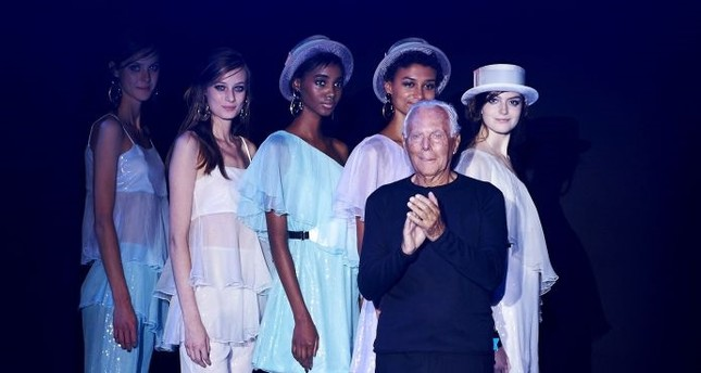 Armani leaves Milan for London, Versus strikes catwalk with provocative show