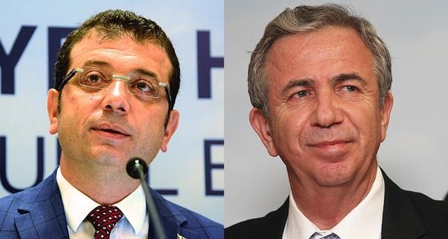 Ekrem Imamoğlu (L) and Mansur Yavaş.