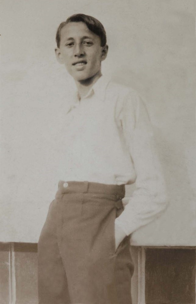 Orhan Veli as a young boy.