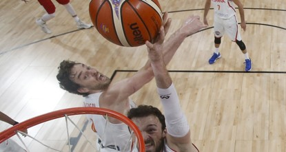 pHolders Spain pulled away from hosts Turkey in the fourth quarter to reach the FIBA EuroBasket 2017 quarter-finals on Sunday where they were joined by Russia, Serbia and Latvia. Ricky Rubio scored...