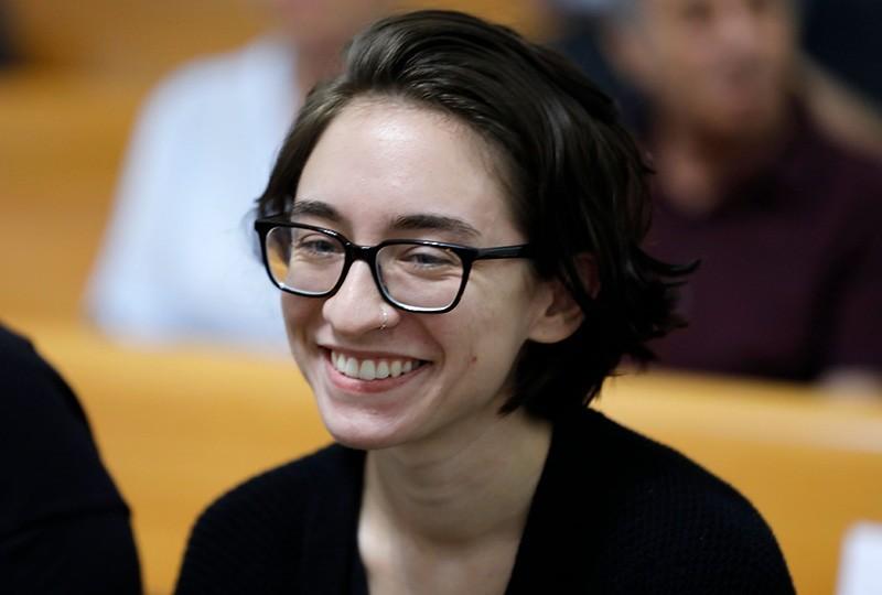US student Lara Alqasem attends a hearing at Israel's Supreme Court in Jerusalem on Oct. 17, 2018. (AFP Photo)