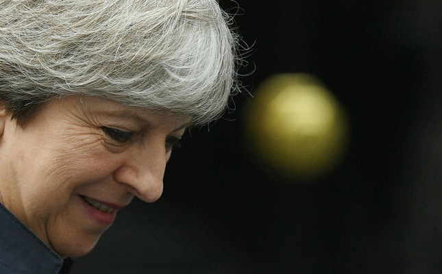 British Prime Minister Theresa May leaves 10 Downing street to attend a vote in the Houses of Parliament in London, Britain, 29 June 2017. The Prime Minister arrived from Germany as her minority Government faces a key Commons vote. (EPA Photo)