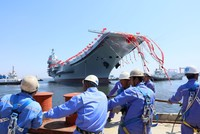 China launched its first domestically built aircraft carrier yesterday, which will join an existing one bought second-hand, amid rising tensions over North Korea and worries about Beijing's...