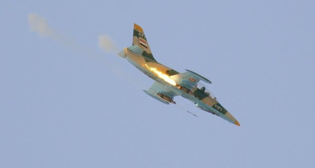 A Syrian warplane (Reuters Photo)