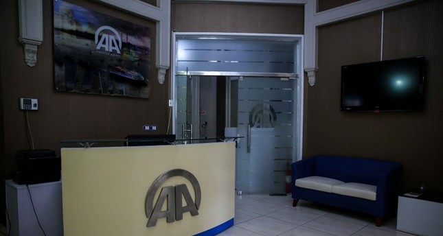 Entrance of Anadolu Agency office in Cairo. AA Photo