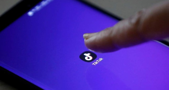 The logo of the TikTok app is seen on a mobile phone screen in this picture illustration taken Feb. 21, 2019. (Reuters Photo)