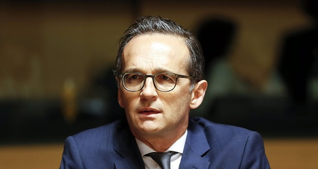 German Justice Minister Heiko Maas attends the Justice and Home Affairs Council meeting in Luxembourg (EPA Photo)