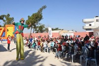 Hundreds of children cheered up in N Syria via events organized by Turkey