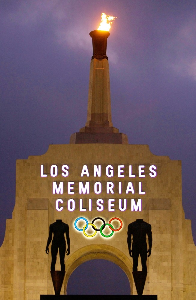 The facade of Los Angeles Memorial Coliseum in Los Angeles. Los Angeles Olympic planners competing for the 2024 Games promised to help restore credibility and stability to international sports festival as the world enters an era of uncertainty.